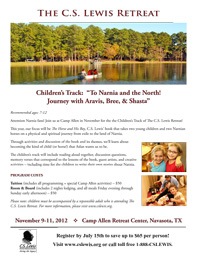 The C.S. Lewis Retreat - Children's Track Flyer B